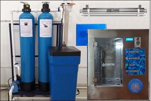 purificadora de agua vending 24 horas